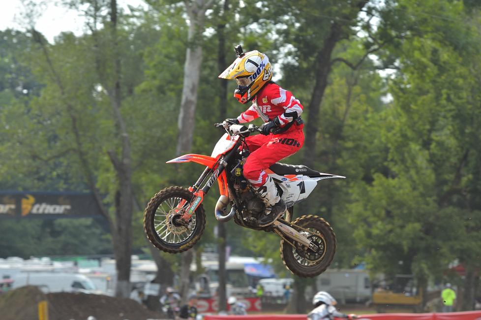 Haiden Deeganfinished 36 seconds ahead of the rest of the 65cc (7-11)field yesterday.