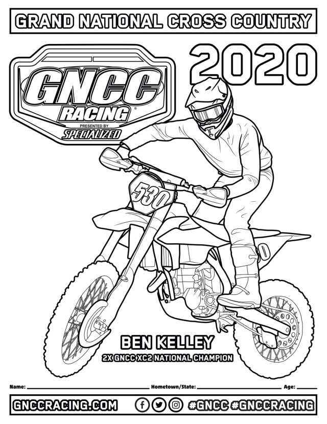Kids Going Crazy? Here Are Fresh GNCC Coloring Pages - GNCC Racing