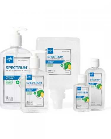 Spectrum Hand Sanitizer 70% Ethyl Alcohol Gel Bottle 8 oz.