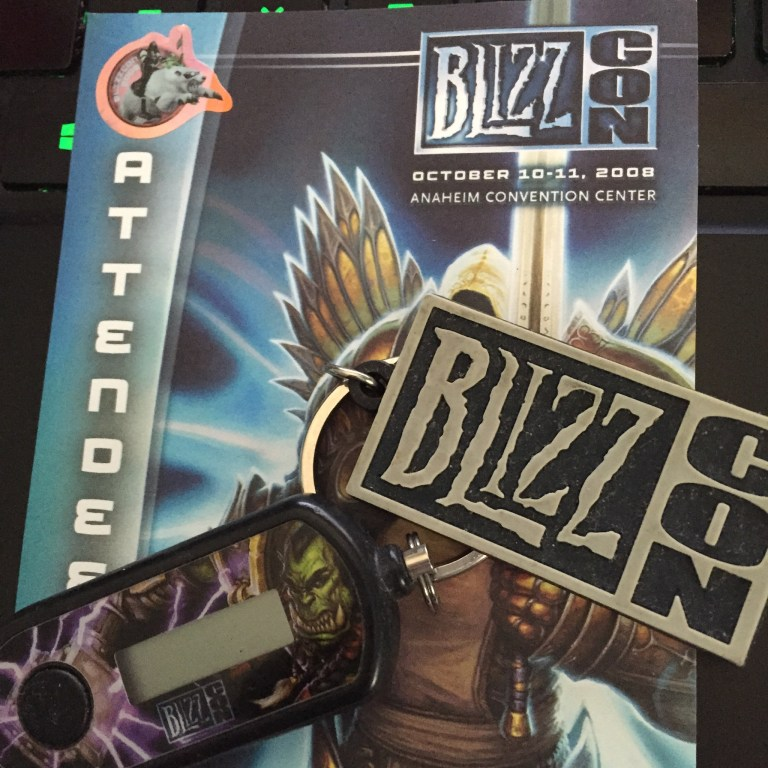 Blizzcon badge and swag
