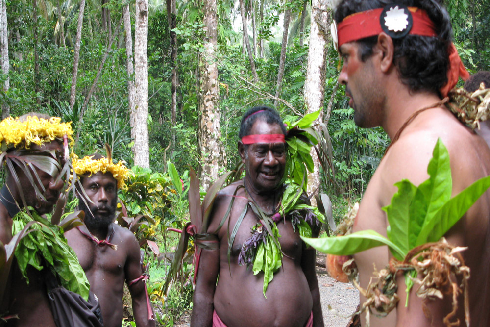 Checking if my outfit measures up with the elders of the tribe