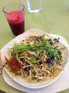 Asian Style Kelp Noodle Salad and Beets Me