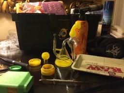 10mm dab rig and high CBD wax