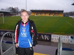 Wearing my Chesterfield shirt at Field Mill in 2007!