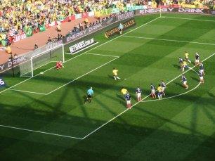 Neymar scores from the spot for Brazil