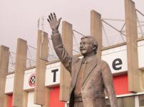 The Derek Dooley statue outside Bramall Lane