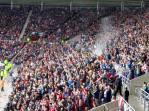 Still a party atmosphere amongst the Sunderland fans