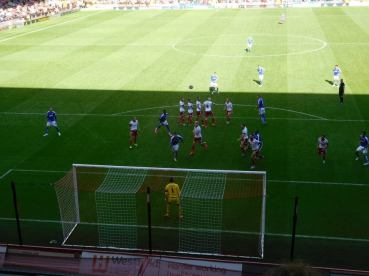 Another free kick misses the target