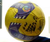 The ball Mesis scored Barca's 5000th goal with