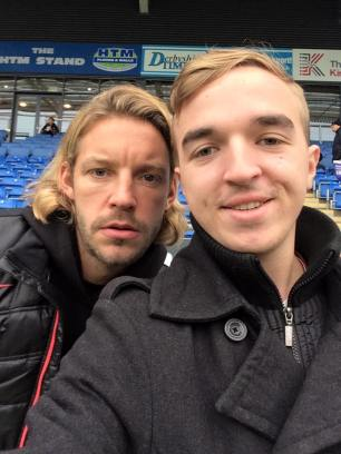 Former Manchester United and current Notts County man Alan Smith in attendance