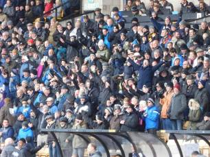 The home fans celebrate