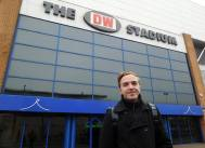 Arriving at the DW Stadium, my 40th of the 92
