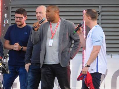 John Barnes on stage