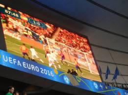 Spain score a late winner