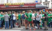 A friendly atmosphere before the game