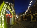 Armenian Street at night.