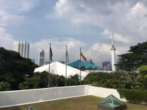View of the national mosque from the Museum of Islamic Art.