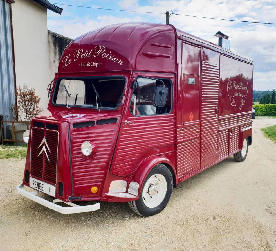 Red Citroen CV Van