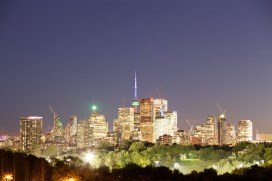 Shooting the downtown from Riverdale Park. Photo by Ryan Bolton.