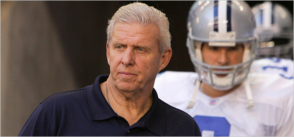 Tony Romo Quote About Bill Parcells from Decade of Futility by Ryan Bush