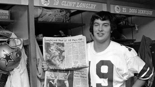 Clint Longley was all smiles after leading Dallas to a come-from-behind victory over the Redskins on Thanksgiving Day.  Two years later, his sucker-punching of Roger Staubach during training camp led to his release.
