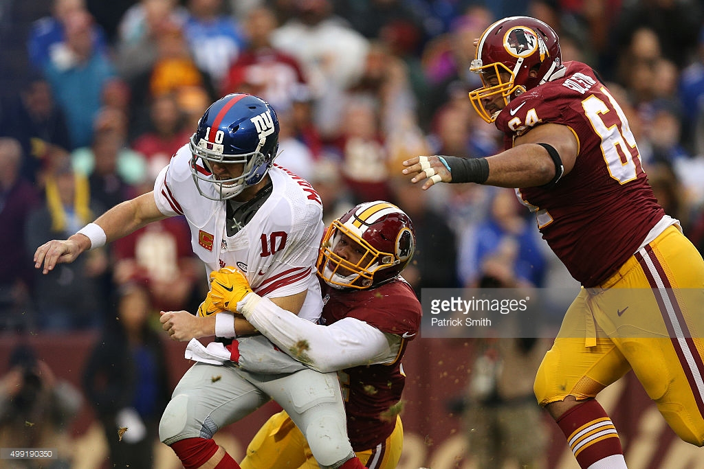 The Redskins defense roughed-up Eli Manning & Co. in a 20-14 victory that kept things close in the NFC East.