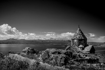 Sevanavank is a monastic complex located on a peninsula at the northwestern shore of Lake Sevan in the Gegharkunik Province of Armenia, not far from the town of Sevan.