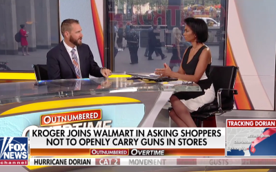 Ryan Cleckner Discusses Walmart's Ammo Ban with Harris Faulkner on Outnumbered.