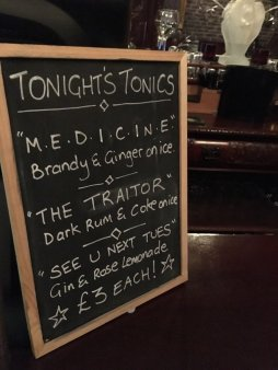The venue named drinks after the band! I'll take a traitor please!-Pic FannyPack Records