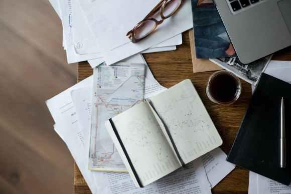 black coffee book caffeine close up