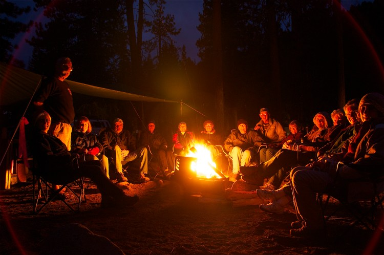 Learning around the Campfire (image by https://flic.kr/p/8Ash8f)