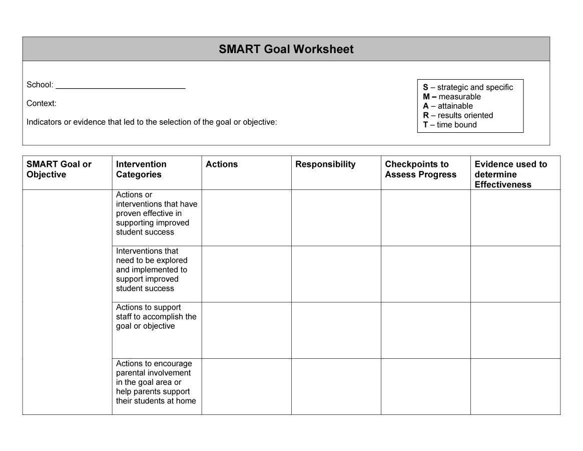 Smart Goals Template Word Doc Ryan S Marketing Blog