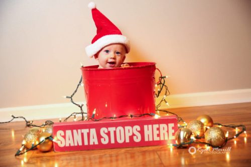 Baby with Santa Hat - West Palm Beach Photographer Gift Certificates