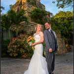 Wedding Palm Beach Zoo Mayan Temple Funny Couple