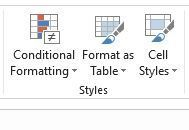 Excel Format as Table