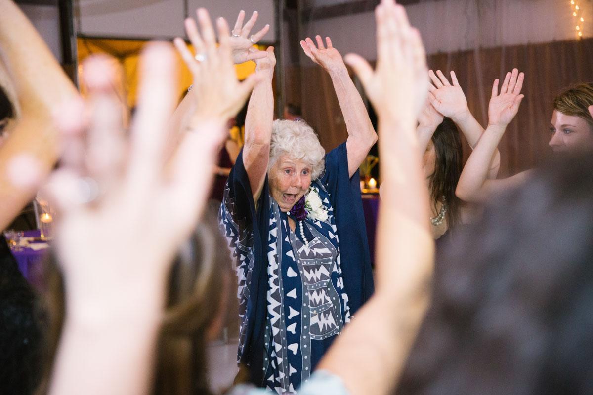 Wedding reception, Grandma Dancing