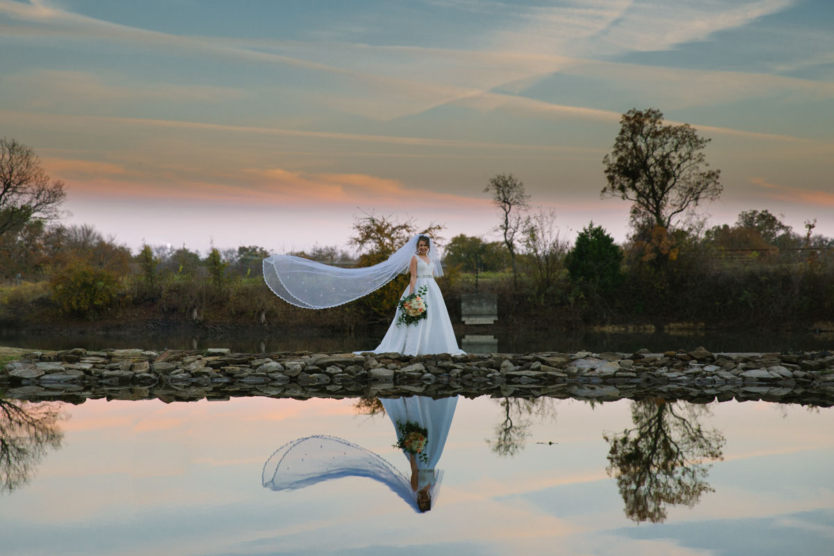 veil in the wind reflection bridals