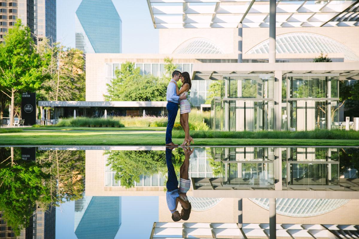 reflection pond dallas art district