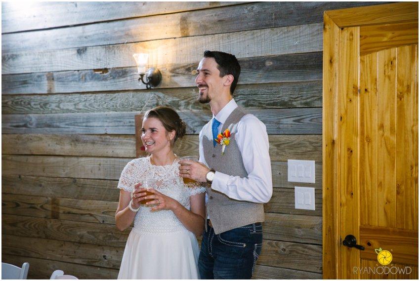 A Rainy Rustic Wedding Day