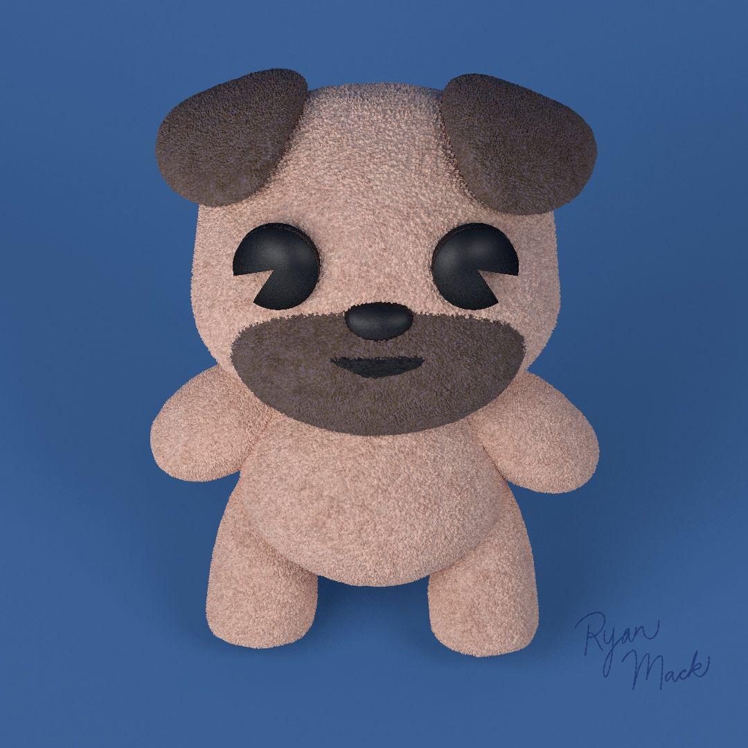 Stylized Pug Puppy Plush