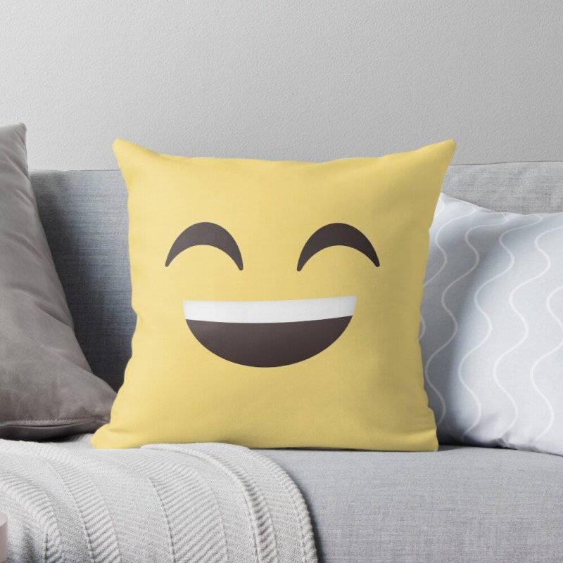 Yellow Laughing Emoji Pillow