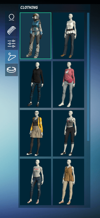 Clothing Palette in Sansar 7 August 2017