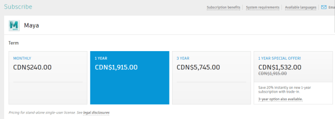 Maya Pricing KaChing!