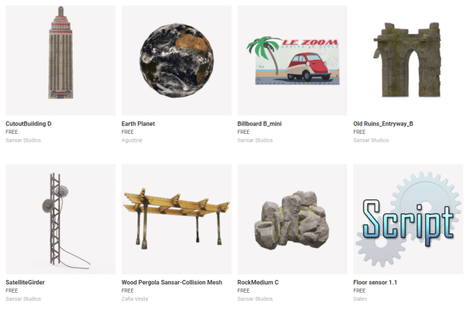 Sansar Store Freebies 9 August 2017
