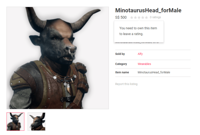 Alfy's Minotaur Head 14 Sept 2017