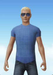 Cloud Party Blue Shirt