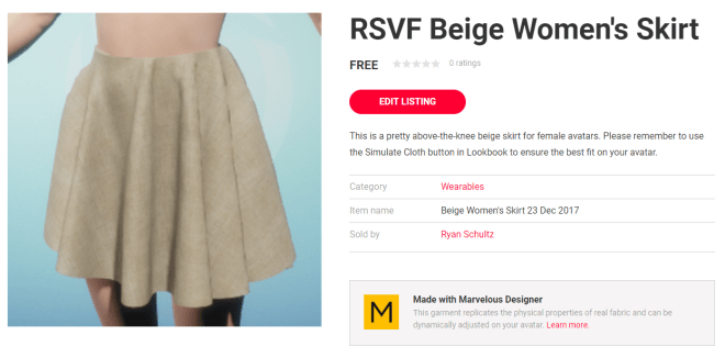 listing for beige women's skirt 23 dec 2017.png