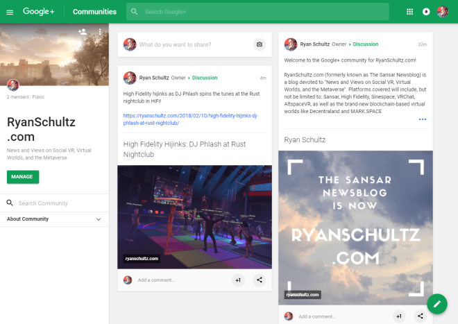Google Plus community 10 Feb 2017