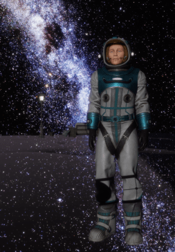 Astronaut Outfit in Milky Way 7 Apr 2018