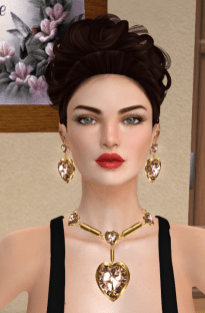 Lazuri Valentina Earrings and Necklace